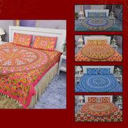 100% Cotton Pack of 5 Mandal Print Bedsheet Set (5BS44)