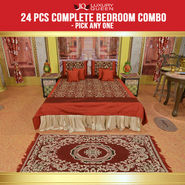 24 Pcs Complete Bedroom Combo - Pick Any One