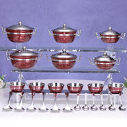 36 Pcs Colored Steel Store & Serving Set