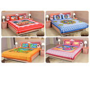4 Double Bedsheets 100% Cotton (4DDBS1)