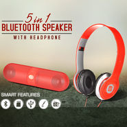 5 in 1 Bluetooth Speaker with Headphone