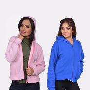 Buy 1 Get 1 Free Women Fleece Jacket by Stylexa