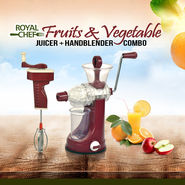 Royal Chef Fruits & Vegetable Juicer + Handblender Combo