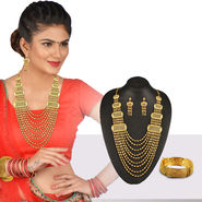 Gold Matar Mala Jewellery Set
