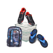 Liberty Flexpro Shoes + Acupressure Flip Flop + Kit Bag (C10)
