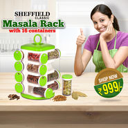 Masala Rack with 16 Containers