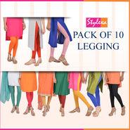 Pack of 10 Leggings by Stylexa