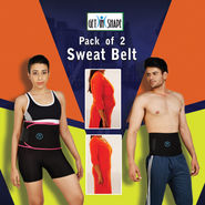 Get In Shape Pack of 2 Sweat Belt (GIS02)