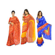 Pack of 3 Bandhani Art Silk Sarees by Pakhi (3A2)