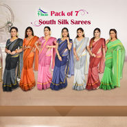 Pack of 7 South Silk Sarees by Pakhi (7CS1)
