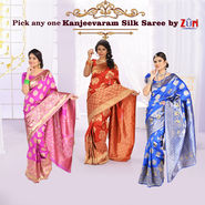 Pick Any One Kanjeevaram Silk Saree by Zuri (KSS9)
