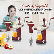 Royal Chef Fruits & Vegetable Juicer + Handblender Combo - Buy 1 Get 1 Free