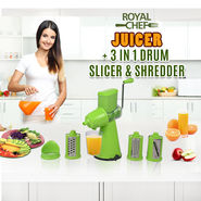 Royal Chef Juicer + 3 in 1 Drum Slicer & Shredder