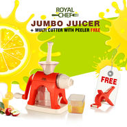 Royal Chef Jumbo Juicer + Multi Cutter with Peeler (Free)