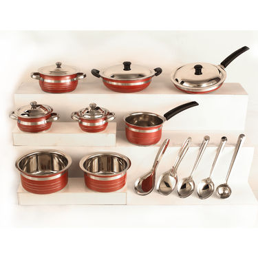 18 Pcs Colored Cookware Set