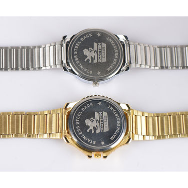 2 Men's Watches with Day & Date (Gold + Platinum)