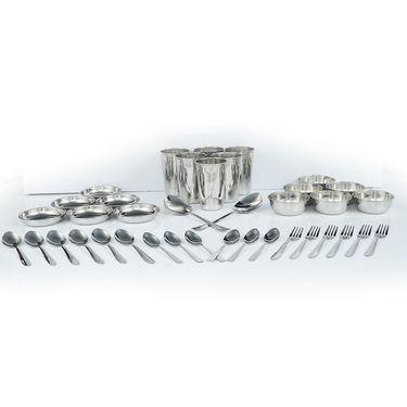 61 Pcs Designer Stainless Steel Dinner Set