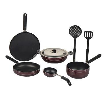 8 Pcs Elegant Non Stick Cookware Set