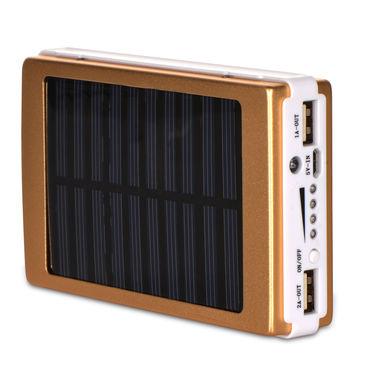 10000 mAh Solar Power Bank with LED Lights