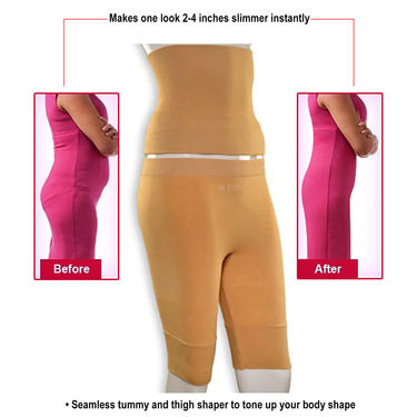 Get In Shape Comfortable Slimming Belt + Thigh Shaper for Women - BOGO