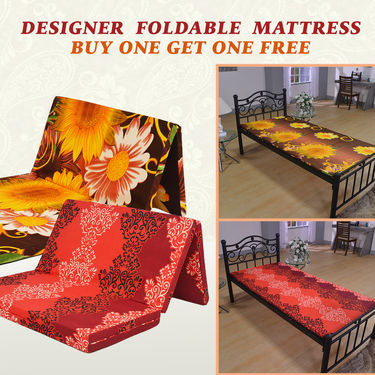 Designer Foldable Mattress - Buy One Get One Free