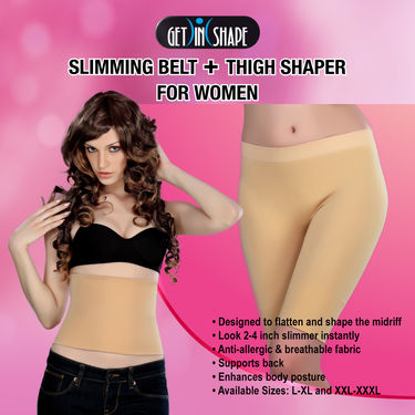 Get In Shape Comfortable Slimming Belt + Thigh Shaper for Women