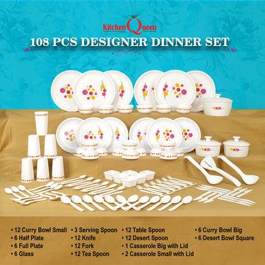 108 Pcs Designer Dinner Set