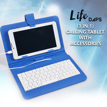 LifeDaps (3 in 1) Calling Tablet with Keyboard
