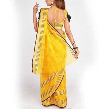 Pack of 4 Gold Border Tissue Sarees by Pakhi (4T1)