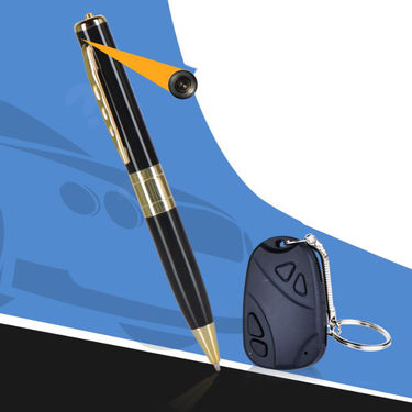 Pen Camera + Car Keychain Camera