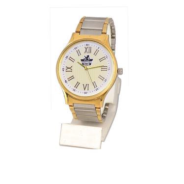 Platinum & Gold Finish Men's Watch