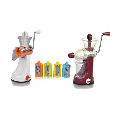 Royal Chef Fruits & Vegetable Juicer + 4 in 1 Drum Slicer & Shredder