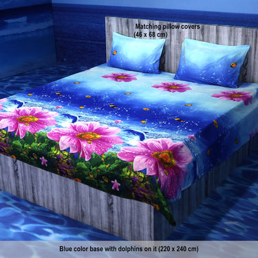 Saptavarna Pack of 5 - 3D Bedsheets (5BS17)
