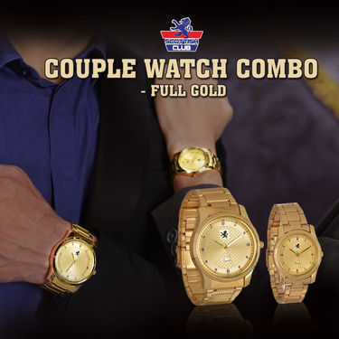 Scottish Club Couple Watch Combo - Full Gold