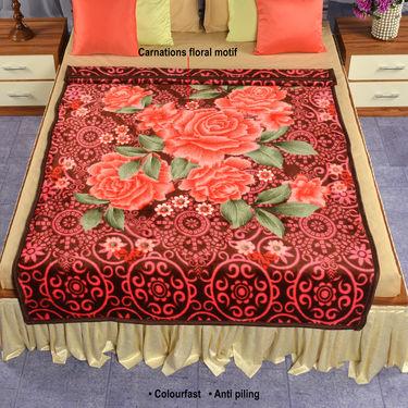 Set of 2 Mink Blankets - Brown