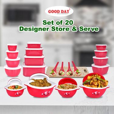 Set of 20 Designer Store & Serve