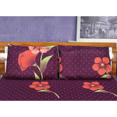Set of 5 Cotton Rich Bedsheets + 10 Pillow Covers (5BS41)