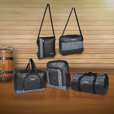 Set of 5 Leatherite Travel Bags