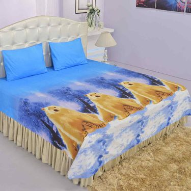 Set of 5 - 3D Nature Double Bedsheets with 10 Pillow Covers (5BS28)