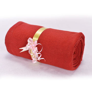 Set of 5 Solid Fleece Blankets (5FB17)