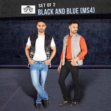 Mr. Tusker Set of 2 Jeans - Black and Blue (MS4)