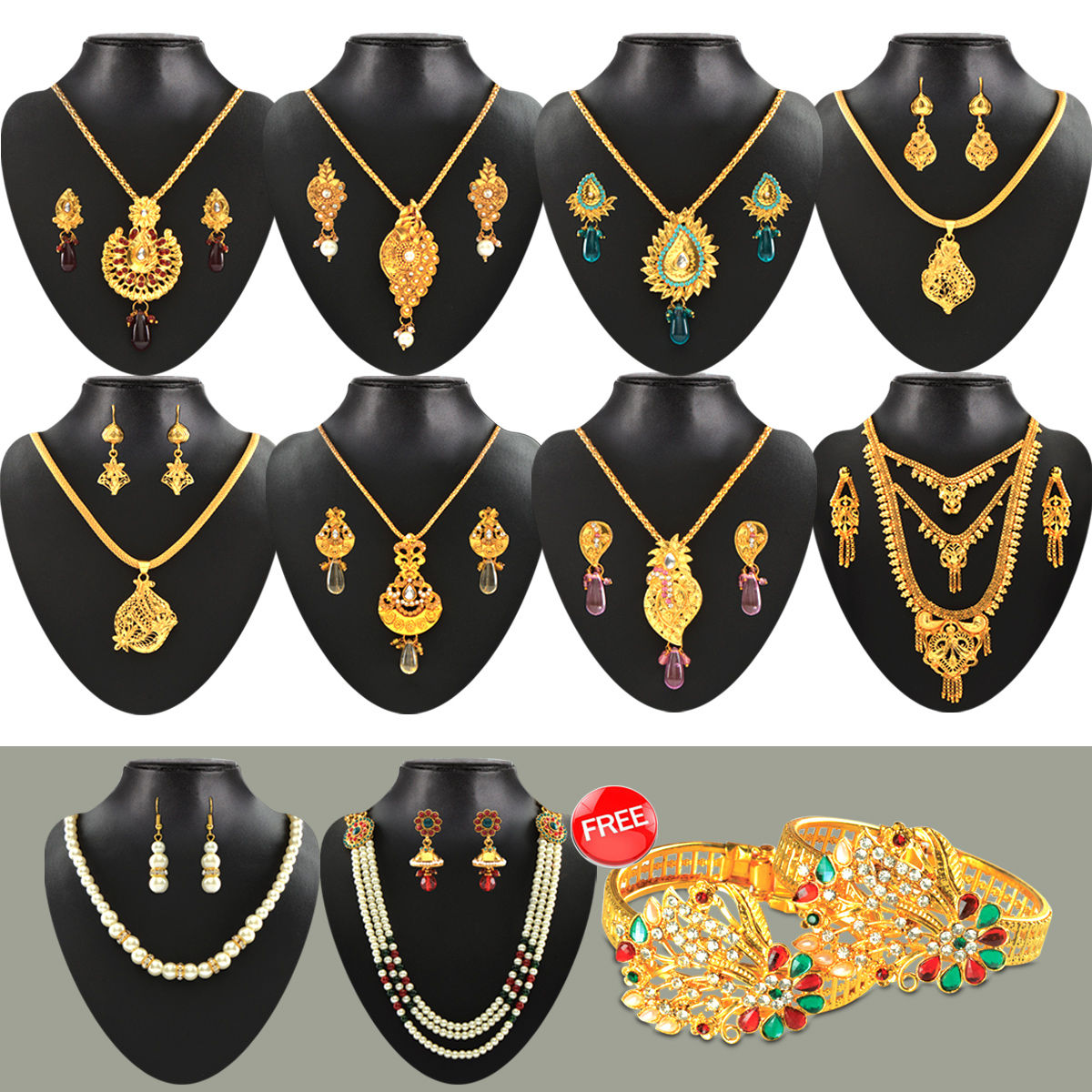 bbf883aa55 Buy Fascinating 1 Gram Gold Plated Jewellery Collection Online at Best  Price in India on Naaptol.com